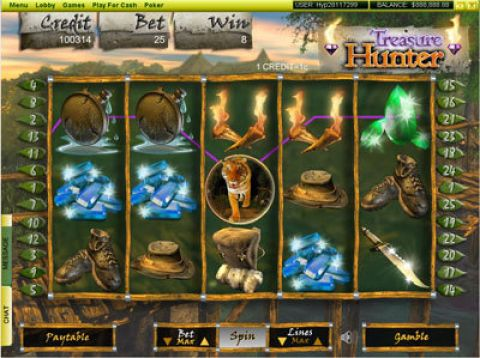 Treasure Hunter Fun Slots by Player Preferred with 5 Reel and 25 Line
