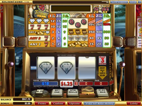 Treasure Trail Fun Slots by WGS Technology with 3 Reel and 1 Line