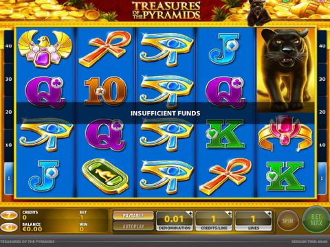 Treasures of the Pyramids Fun Slots by GTECH with 5 Reel and 40 Line
