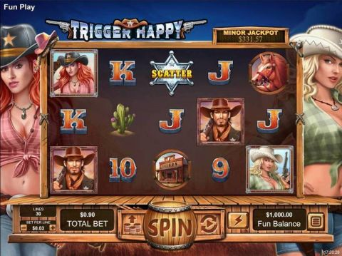 Trigger Happy Fun Slots by RTG with 5 Reel and 30 Line