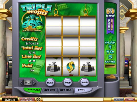 Triple Profits Fun Slots by PlayTech with 3 Reel and 3 Line