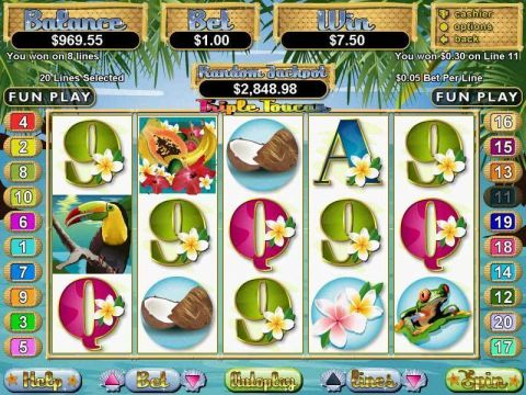 Triple Toucan Fun Slots by RTG with 5 Reel and 20 Line