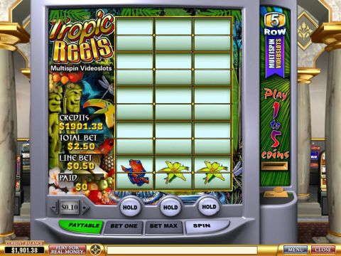 Tropic Reels Fun Slots by PlayTech with 3 Reel and 5 Line