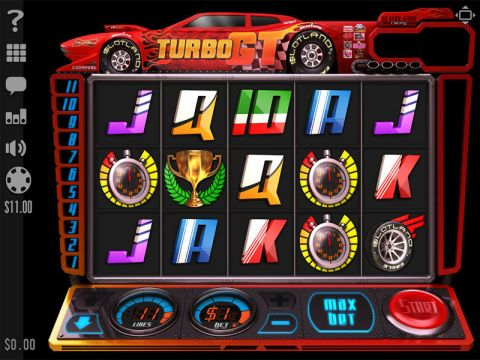 Turbo GT Fun Slots by Slotland Software with 5 Reel and