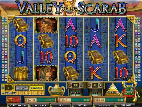 Valley of the Scarab Fun Slots by Amaya with 5 Reel and 100 Line