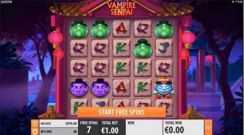 Vampire Senpai Fun Slots by Quickspin with 5 Reel and 40 Line