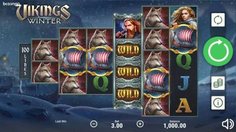 Vikings Winter Fun Slots by Booongo with 6 Reel and 100 Line