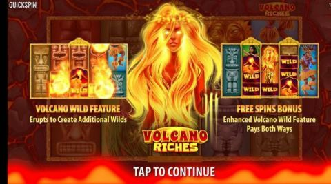 Volcano Riches Fun Slots by Quickspin with 5 Reel and 40 Line