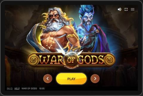 War of Gods Fun Slots by Red Tiger Gaming with 5 Reel and 60 Line