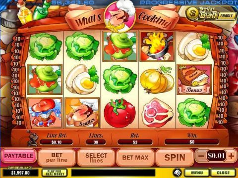 What's Cooking Fun Slots by PlayTech with 5 Reel and 30 Line