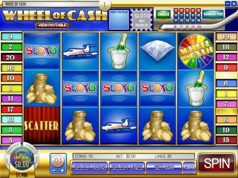 Wheel of Cash Fun Slots by Rival with 5 Reel and 20 Line