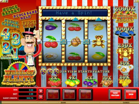 Wheel of Plenty Fun Slots by Microgaming with 3 Reel and 1 Line