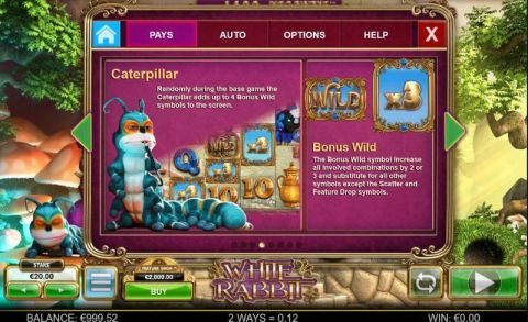White Rabbit Fun Slots by Big Time Gaming with 5 Reel and 248832 Way
