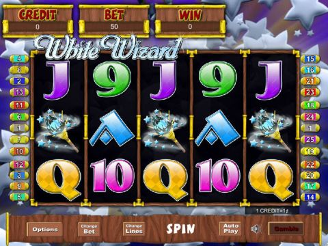 White Wizard Fun Slots by Eyecon with 5 Reel and 25 Line