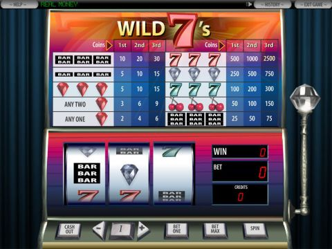 Wild 7's Fun Slots by DGS with 3 Reel and 1 Line