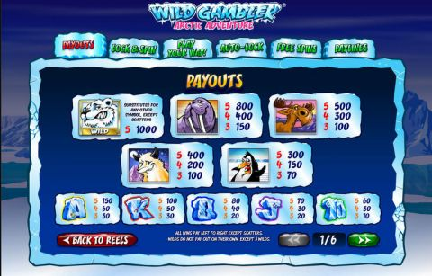 Wild Gambler Artic Adventure Fun Slots by Ash Gaming with 5 Reel and 20 Line