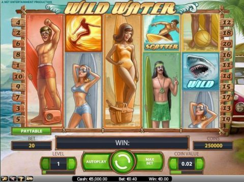 Wild Water Fun Slots by NetEnt with 5 Reel and 20 Line
