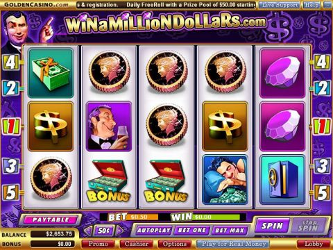 Win a Milllion Dollars Fun Slots by Vegas Technology with 5 Reel and 5 Line