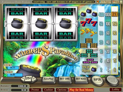 Winners Paradise Fun Slots by Vegas Technology with 3 Reel and 1 Line