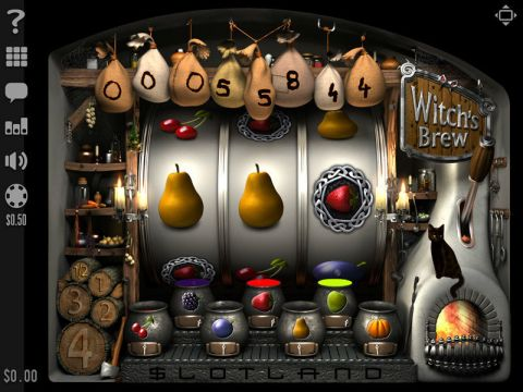 Witch's Brew Fun Slots by Slotland Software with 3 Reel and 1 Line