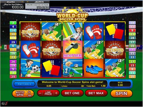 World Cup Soccer Spins Fun Slots by GamesOS with 5 Reel and 30 Line
