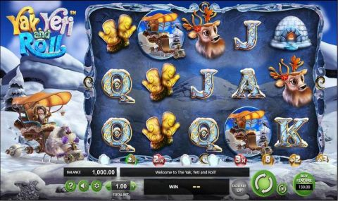 Yak, Yeti & Roll Fun Slots by BetSoft with 5 Reel and 20 Line
