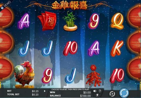 Year of the Rooster Fun Slots by Genesis with 5 Reel and 243 Line